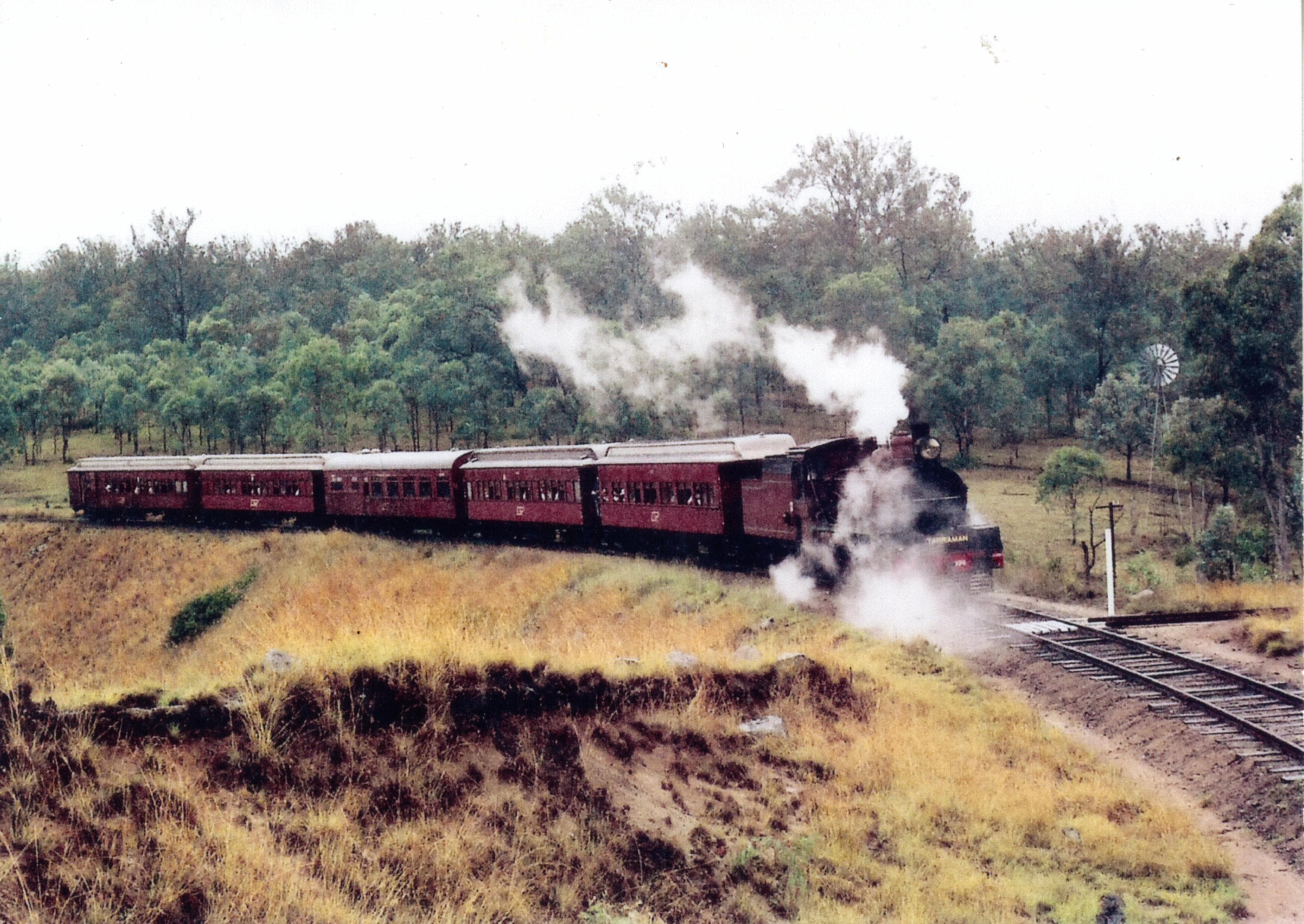 Last steam train to Yarraman