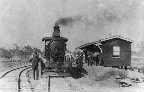 Locomotive and railway workers at Nanango Queensland 1911