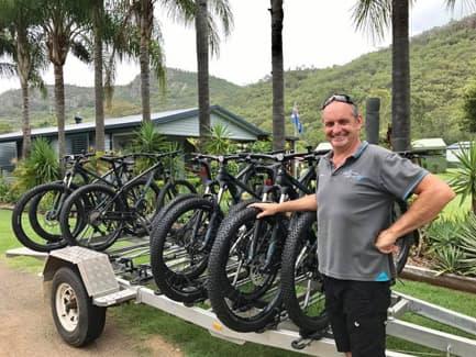 Hire Bikes ar Esk Caravan Park