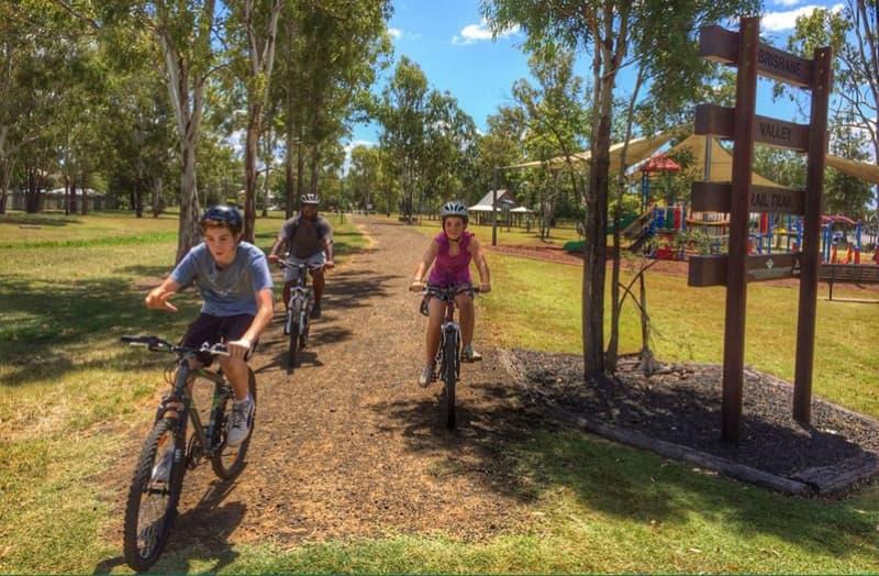 BVRT kids riding bikes